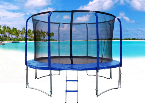 mzone fiberglass trampoline 12ft4s. Black Bedroom Furniture Sets. Home Design Ideas